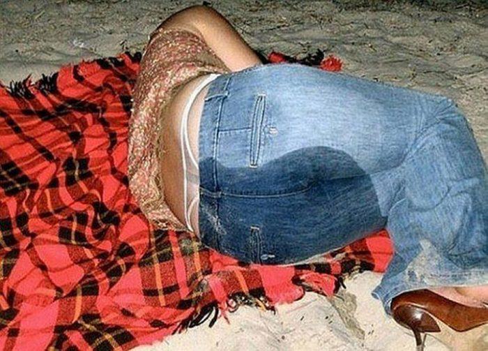 пьяные и обоссаные девушки - 6